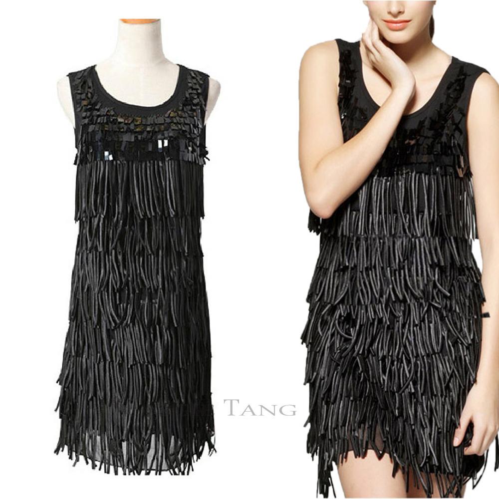 Купить Платье С Бахромой В Стиле Чикаго Москва